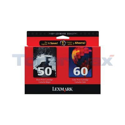 LEXMARK NO. 50 60 INK CART CMYK COMBO PACK